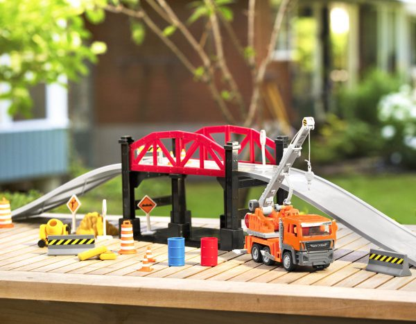 Construction Baustelle Brücke Spielset