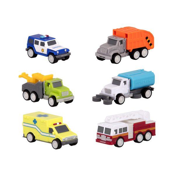 Pocket Safe & Clean City Fahrzeug Set